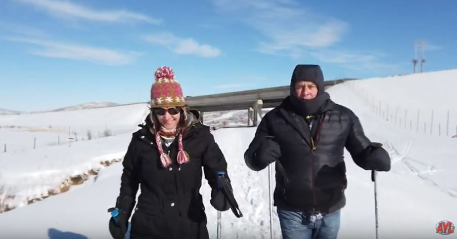 Snow Shoeing the Union Pacific Rail Trail