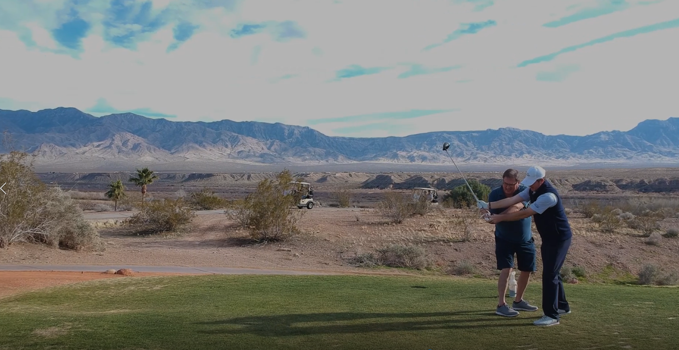 Chad Takes Golf Lessons